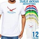 7MILE OCEAN Tシャツ メンズ 半袖 カットソー アメカジ カモメ シンプル 人気ブランド アウトドア ストリート 大き目 大きいサイズ ビックサイズ対応 12色