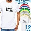 7MILE OCEAN Tシャツ メンズ 半袖 カットソー アメカジ ボックスロゴ サーフィン 人気ブランド アウトドア ストリート 大き目 大きいサイズ ビックサイズ対応 12色