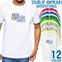 7MILE OCEAN Tシャツ メンズ 半袖 カットソー アメカジ ニューヨーク NEWYORK ロゴ 人気ブランド アウトドア ストリート 大き目 大きいサイズ ビックサイズ対応 12色