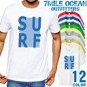 7MILE OCEAN Tシャツ メンズ 半袖 カットソー アメカジ サーフィン サーフ系 人気ブランド アウトドア ストリート 大き目 大きいサイズ ビックサイズ対応 12色