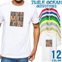 7MILE OCEAN Tシャツ メンズ 半袖 カットソー アメカジ だまし絵 ウッド 人気ブランド アウトドア ストリート 大き目 大きいサイズ ビックサイズ対応 12色