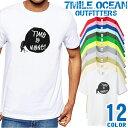 7MILE OCEAN Tシャツ メンズ 半袖 カットソー アメカジ オモシロ 個性派 フンコロガシ メッセージ 人気ブランド アウトドア ストリート 大き目 大きいサイズ ビックサイズ対応 12色