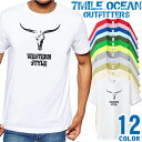 7MILE OCEAN Tシャツ メンズ 半袖 カットソー アメカジ ウエスタン 正統派 デザイン アメリカン 人気ブランド アウトドア ストリート 大き目 大きいサイズ ビックサイズ対応 12色