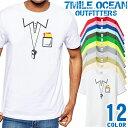 7MILE OCEAN Tシャツ メンズ 半袖 カットソー アメカジ サッカー スポーツ 審判 主審 だまし絵 人気ブランド アウトドア ストリート 大き目 大きいサイズ ビックサイズ対応 12色