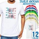 7MILE OCEAN Tシャツ メンズ 半袖 カットソー アメカジ アウトドア 登山 アパレル 人気ブランド アウトドア ストリート 大き目 大きいサイズ ビックサイズ対応 12色
