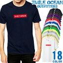 7MILE OCEAN Tシャツ メンズ 半袖 カットソー アメカジ 無地 sup ボックスロゴ reme 通販 人気ブランド アウトドア ストリート 大き目 大きいサイズ ビックサイズ対応 18色