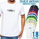7MILE OCEAN Tシャツ メンズ 半袖 カットソー アメカジ ロゴ ターポン フライ ルアー ゲームフィッシュ 人気ブランド アウトドア ストリート 大き目 大きいサイズ ビックサイズ対応 18色