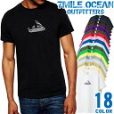 7MILE OCEAN Tシャツ メンズ 半袖 カットソー アメカジ ロゴ パロディー ネタ おもしろ ナイフ 人気ブランド アウトドア ストリート 大き目 大きいサイズ ビックサイズ対応 18色