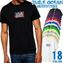 7MILE OCEAN Tシャツ メンズ 半袖 カットソー アメカジ ロゴ USA アメリカ デザイン 人気ブランド アウトドア ストリート 大き目 大きいサイズ ビックサイズ対応 18色