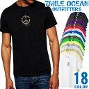 7MILE OCEAN Tシャツ メンズ 半袖 カットソー アメカジ ロゴ 平和 PIECE ピースマーク 迷彩 人気ブランド アウトドア ストリート 大き目 大きいサイズ ビックサイズ対応 18色