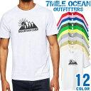 メンズ Tシャツ 半袖 プリント アメカジ 大きいサイズ 7MILE OCEAN アウトドア ロゴ