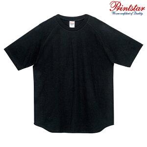 メンズ ビックサイズ 大きいサイズ Tシャツ 半袖 ラグラン ヘビーウェイト 5.6オンス 無地 ブラック 2XL サイズ 106-CRT