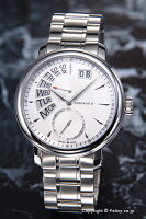 【AEROWATCH】アエロウォッチ腕時計Renaissance-Retrograde(ルネッサンスレトログラード)ホワイトシルバーA46941AA01M