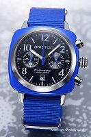 BRISTONブリストン腕時計ClubmasterCgronograph(クラブマスタークロノグラフ)ブラック(シルバー)×ブルー13140.SA.286.1.NBLE