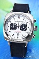 BRISTONブリストン腕時計ClubmasterSportChronograph(クラブマスタースポーツクロノグラフ)ホワイトシルバー(ブラック)16142.S.SP.2.RB