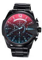【DIESEL】ディーゼル腕時計MegaChiefChronograph(メガチーフクロノグラフ)ブラックポラライザーDZ4318