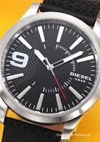 ディーゼル腕時計DIESELラスプブラック/ブラックレザーストラップDZ1766【】