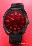 【DIESEL】ディーゼル腕時計Fastbak(ファストバック)レッド×ブラック/ブラックレザーストラップDZ1837
