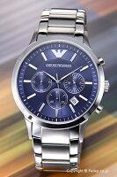 【EMPORIOARMANI】エンポリオアルマーニ腕時計ClassicCollectionChronograph(クラシックコレクションクロノグラフ)ブルーAR2448