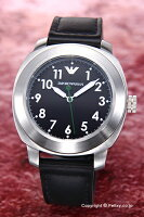 【EMPORIOARMANI】エンポリオアルマーニ腕時計SportivoCollection(スポーティボコレクション)ブラック/ブラックレザーストラップAR6057