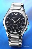 【EMPORIOARMANI】エンポリオ・アルマーニ腕時計ValenteChronographCollection(バレンテクロノグラフコレクション)ブラックAR11083