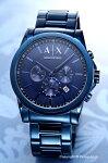 【ArmaniExchange】アルマーニエクスチェンジ腕時計OuterBanksChronograph(アウターバンクスクロノグラフ)オールネイビーブルーAX2512