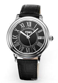 【FENDI】フェンディ腕時計ClassicoRound(クラシコラウンド)ブラック/ブラックレザーストラップメンズF256011011