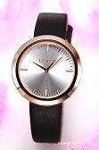 フルラ 時計 FURLA Valentina (ヴァレンティナ) シルバー×ローズゴールド/ブラックレザーストラップ R4251103503