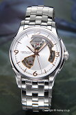 ハミルトン 腕時計 メンズ HAMILTON Jazzmaster Viewmatic Openheart Auto (ジャズマスター ビューマチック・オープンハート) シルバー×ピンクゴールド H32565155
