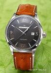【HAMILTON】ハミルトン腕時計JazzmasterViewmaticAuto(ジャズマスタービューマチックオート)グレー/ライトブラウンオーストリッチレザーストラップH32755851