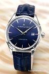 【HAMILTON】ハミルトン腕時計JazzmasterGent(ジャズマスタージェント)ブルー/ブルーレザーストラップH32451641