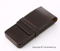 イル・ブセット Pen Case (ペンケース) ダークブラウン 3本用