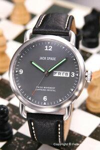 【JACKSPADE】ジャックスペード腕時計Buckner(バックナー)グレー/ブラックレザーストラップWURU0021