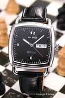 【JACKSPADE】ジャックスペード腕時計Sutherland(サザーランド)ブラック/ブラックレザーストラップWURU0037