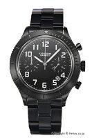 【KATHARINEHAMNETT】キャサリンハムネット腕時計RetoroMilitaryChrono(レトロミリタリークロノ)オールブラックKH23E3-B31