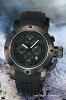 【MAXXLWATCHES】マックス腕時計Chronograph42mm(クロノグラフ)SS(ブラックIPベゼル)オールブラック/ブラックラバーストラップ5-MAX485