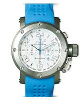 【MAXXLWATCHES】マックス腕時計Chronograph47mm(クロノグラフ)ホワイト/ライトブルーラバーストラップ5-MAX512