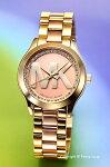 【MICHAELKORS】マイケルコース腕時計MiniRunwaySlim(ミニランウェイスリム)ツートンゴールド(クリスタル)MK3650