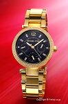 【MICHAELKORS】マイケルコース腕時計ParkerMini(パーカーミニ)ブラック×ゴールド(Withクリスタルストーン)MK3790