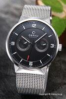 オバク腕時計メンズOBAKUV170GMCBMCデイデイト