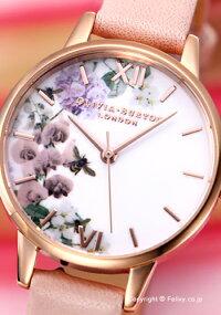 オリビアバートンOLIVIABURTON腕時計MIDIDUSTYPINK&ROSEGOLDFLORALOB16EG56【あす楽】