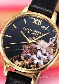 オリビアバートンOLIVIABURTON腕時計MARBLEFLORALSBLACK&GOLDOB16CS11【あす楽】