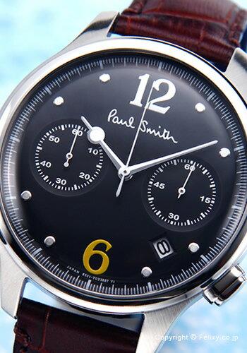 PAUL SMITH ポールスミス メンズ腕時計 BX2-019-52 The City Two Counter Chronograph (シティ クラシック ツー カウンター クロノグラフ) ブラック 【あす楽】