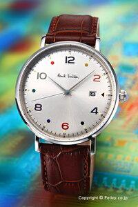 ポールスミス腕時計メンズPaulsmithGaugeColour(ゲージカラー)シルバー/ブラウンレザーストラップPS0060002