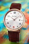 ポールスミス腕時計メンズPaulsmithGaugeColour(ゲージカラー)シルバー×ローズゴールド/ブラウンレザーストラップPS0060003