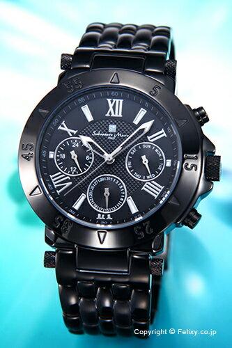 サルバトーレマーラ 腕時計 メンズ Salvatore Marra オールブラック SM14118-IPBK