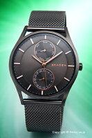 【SKAGEN】スカーゲン腕時計HolstMulti-Function(ホルストマルチファンクション)ガンメタル(ローズゴールド)SKW6180