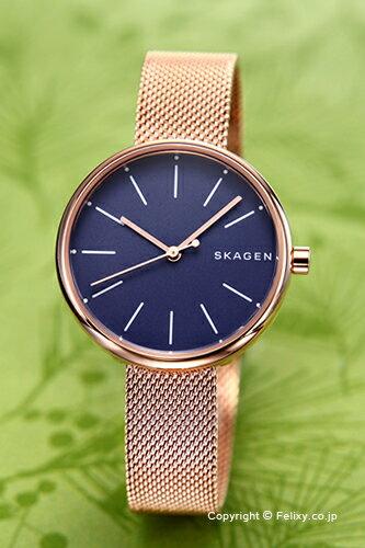 スカーゲン 腕時計 SKAGEN シグネチャー ネイビー×ローズゴールド SKW2593