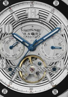 SONNE×HAORI腕時計ProducedKOICHIIWAKI(ゾンネ×ハオリ岩城滉一コラボレーションモデル)ブラック×シルバーH017SS-BK
