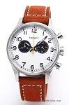 【TSOVET】ソベット腕時計SVT-DE40Series(SVT-DE40シリーズ)シルバー/ブラウンレザーストラップDE110113-40